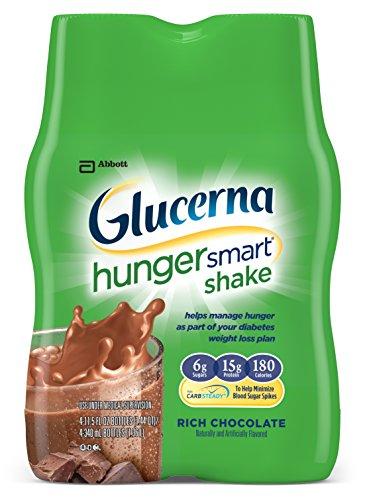 Hambre de Glucerna Shake inteligente, rico Chocolate, 11.5 onzas fluidas (Pack de 12)
