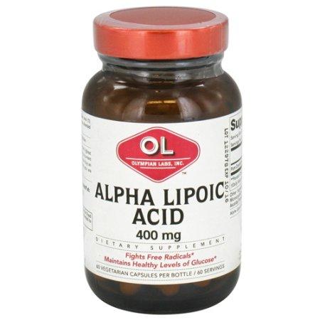 Olympian Labs Ácido alfa lipoico 400 mg cápsulas vegetarianas - 60 Ea