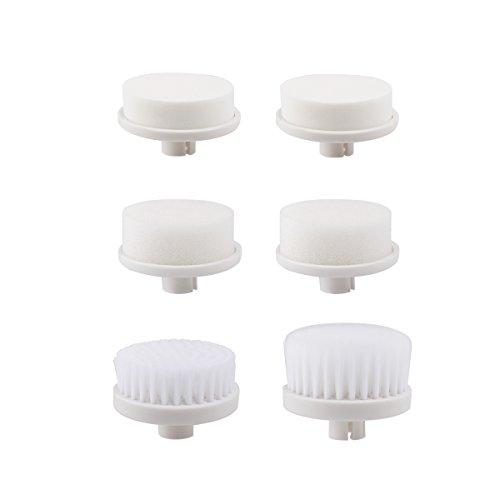 Pixnor 6 piezas recambio cabezales para P2016 7 en 1 cepillo Facial