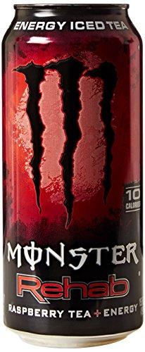 Rehabilitación de Monster Energy bebida, té de frambuesa, 15,5 onzas (paquete de 24)