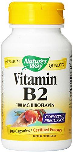 Forma vitamina B2 de la naturaleza, riboflavina 100 mg, 100 cápsulas