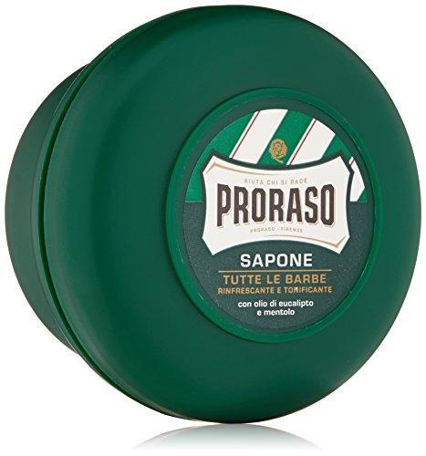 Jabón de afeitar Proraso, eucalipto y mentol, 5,2 oz (150 ml), nueva formulación