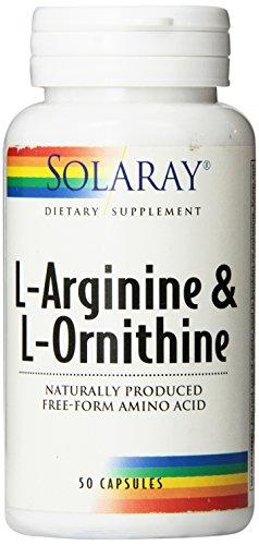 Solaray forma libre L-arginina y ornitina cápsulas, cuenta 50