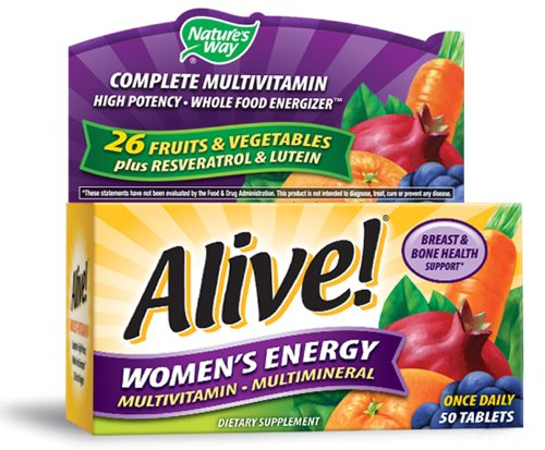 Energía multivitaminas multiminerales 50 tabletas de la mujer viva