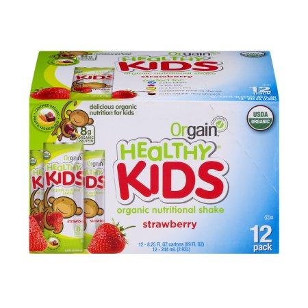 Healthy Kids Orgánica Nutritional Shake Fresa - 12 PK 8.25 onzas líquidas