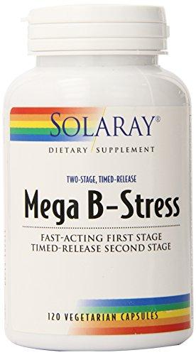 Solaray Mega B estrés dos etapas Timed Release suplemento, cuenta 120