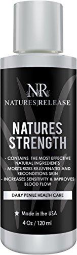 Naturalezas liberación naturalezas fuerza 4.0 Oz - crema salud peneal Natural - ideal para piel seca, roja, agrietada o peeling del pene - y alivio de la irritación aumenta sensibilidad peneal