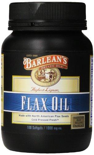 Ea en de Barlean orgánico aceites alta Lignan Flax aceite de cápsulas, frasco de 100 cápsulas, 1000 mg.