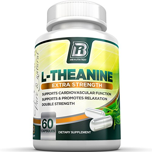 BRI nutrición L-teanina potenciada con 100 mg de Inositol - cuenta 60 mg 200 L teanina Veggie cápsulas-