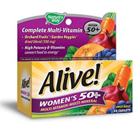Alive Camino de la Naturaleza una vez al día de las mujeres mayores de 50 años multivitamínico 50 Caps x 2 cajas