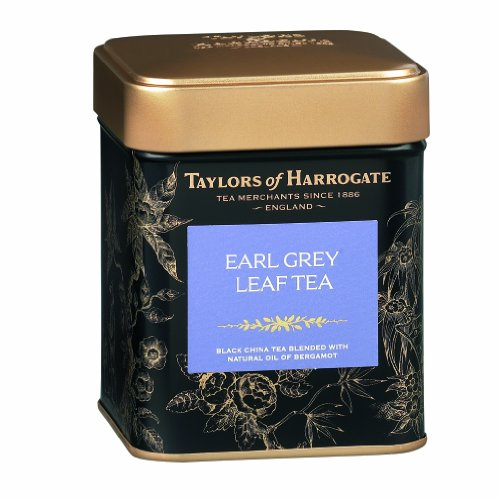 Taylors de Harrogate Earl gris hoja té, hojas sueltas, 4,41 onzas lata
