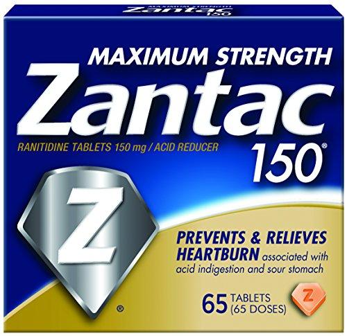 Pastillas Zantac 150 máximo, cuenta 65