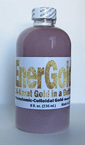 EnerGold ® 2 en 1 oro-plata-basados en platino oro monoatómico-coloidal - botella de 8 oz - espumoso ORMUS - sin sal! Ningún tinte!
