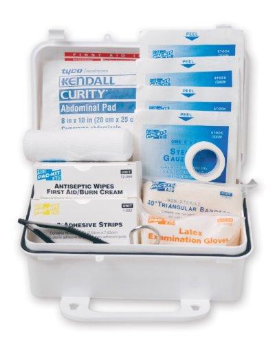 PAC-Kit de primeros auxilios 6060 sólo 57 pieza #10 ANSI Kit de primeros auxilios, estuche de plástico resistente a la intemperie