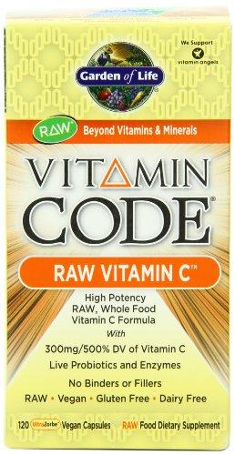 Jardín de vida vitamina código vitamina C 120 cápsulas