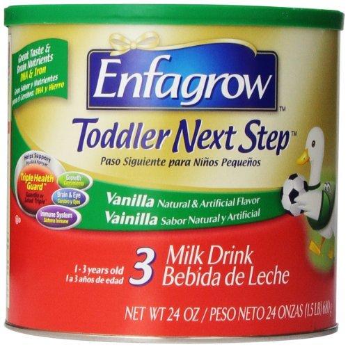 Enfagrow niño siguiente paso vainilla, para los niños de 1 año y para arriba, 24 onzas (paquete de 3) estilo: tamaño de vainilla: recién nacido de 24 onzas (paquete de 3), cabrito, niño, niños, niño, bebé