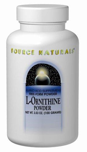 Source Naturals L-ornitina, polvo, 100 gramos