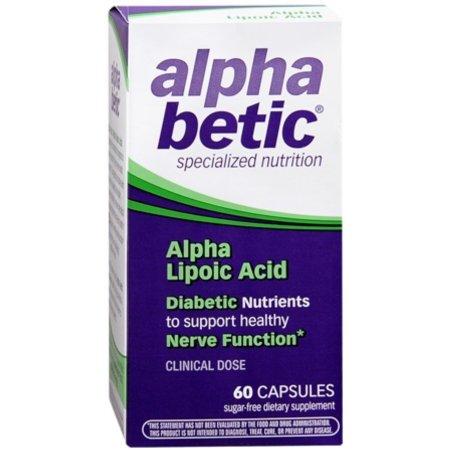 alpha betic ácido alfa lipoico Cápsulas 60 Cápsulas