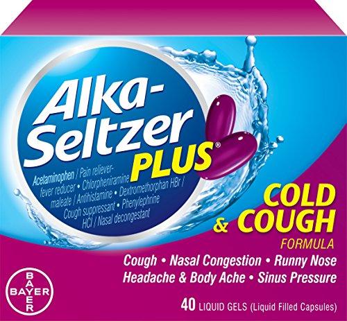 Alka-Seltzer Plus gel líquido frío y tos, cuenta 40