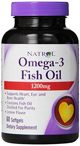 Aceite de pescado 1200 mg de Natrol Omega 3 cápsulas, 60-Conde