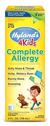 4 niños de Hyland's completan jarabe de alivio de la alergia, alivio Natural alergia interior y al aire libre, 4 onzas