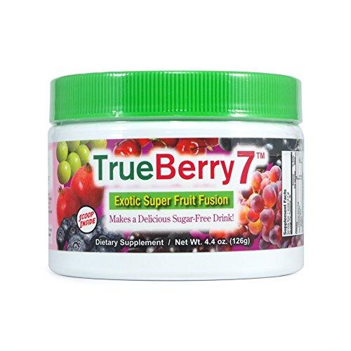 TrueBerry7 Super fruta polvo mezcla por NatureCity - 30 mezcla de bebida sin azúcar de porciones - diabética seguro!