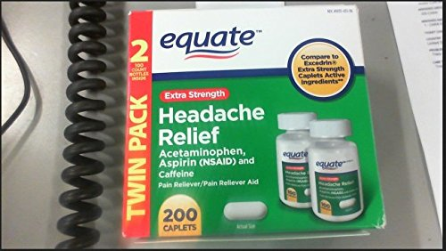 Equiparar - alivio de dolor de cabeza, Extra fuerte, paracetamol, aspirina y cafeína, comprimidos, recubiertos 200-Conde
