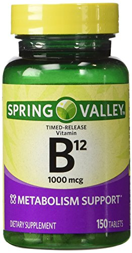 Spring Valley - vitamina B-12, Timed Release 1000 mcg, 300 comprimidos, Twin Pack