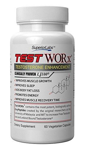 #1 prueba de suplemento de testosterona Booster WORx - 6 ciclo de la semana - hecho en los E.e.u.u. - ingredientes probados en ensayos en humanos para mejorar la testosterona hasta un 132%. Satisfacción o le devolvemos su dinero garantizado