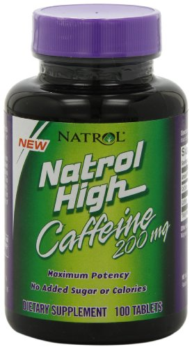 Natrol alto cafeína 200mg comprimidos, 100-cuenta