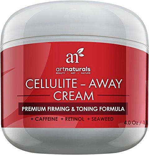 Crema de tratamiento lejos de arte naturales celulitis - contiene probada Anti celulitis Retinol, cafeína y algas - mejor cuerpo reafirmante, estiramiento y tonificación - borrar hoyuelos de piernas, brazos, estómago y nalgas