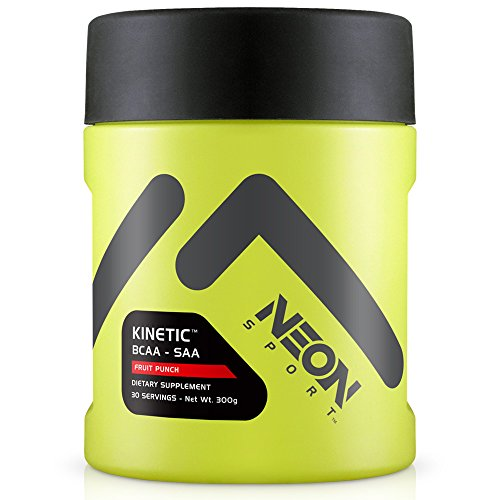 Neon Sport Kinitic BCAA y SAA aminoácidos suplemento, Fruit Punch, 30 porciones