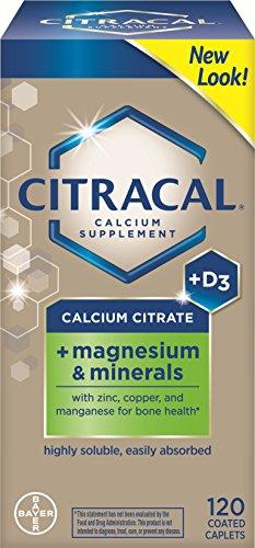 Citracal citrato de calcio con vitamina D y magnesio 120 ea