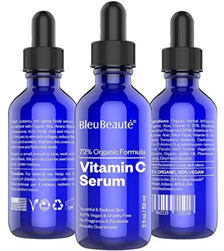 BIG - 2 oz suero de vitamina C (20%) de Bleu Beauté - alta potencia anti envejecimiento suero facial - que obras o su devolución!