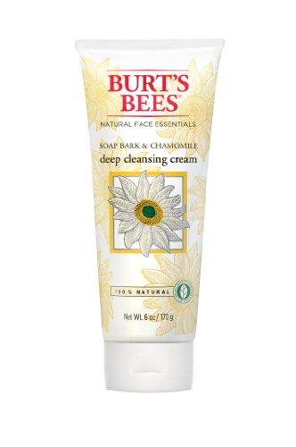 Las abejas de Burt jabón de corteza y manzanilla crema limpiadora profunda, 6 onzas (Pack de 3)