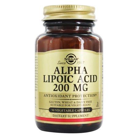 Solgar ácido alfa lipoico 200 mg 50 cápsulas vegetales