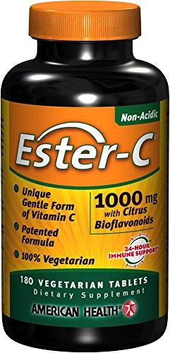 Ester-C 1000 mg con bioflavonoides cítricos salud productos 180 VegTab