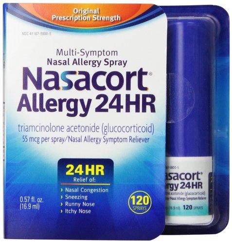 Nasacort alergia 24 horas 120 Sprays, 0,57 onzas de líquido