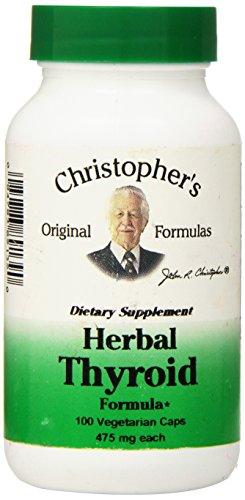 Fórmula Herbal tiroides Dr Christopher, conteo de 100