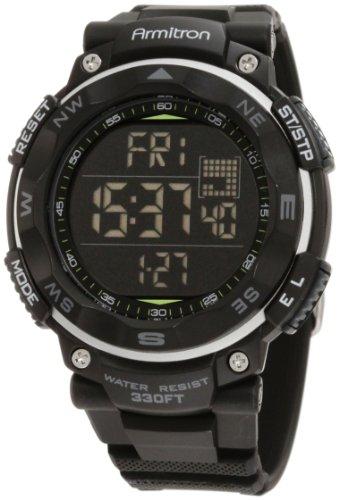 40/8254BLK Armitron hombres Sport reloj cronógrafo Digital negro