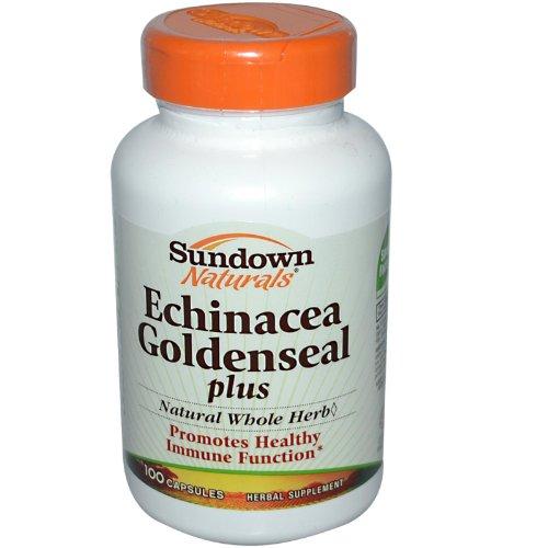 Sundown Naturals Echinacea Goldenseal Plus cápsulas, cuenta 100