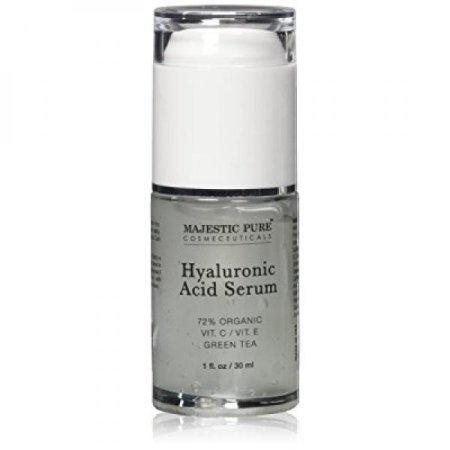Ácido hialurónico El suero de Majestic Pure, 30 ml - Crema hidratante anti envejecimiento hace que la piel lucen más parejas y levantó