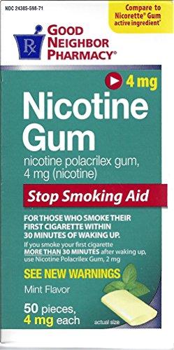 Nicotina dejar de fumar menta chicle (4 mg), 50 piezas por caja por farmacia del buen vecino