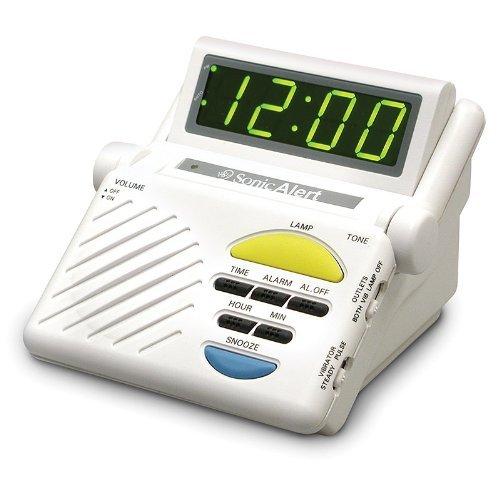 SB1000 alerta Sonic Sonic Boom ruidoso despertador vibrante con receptor incorporado para