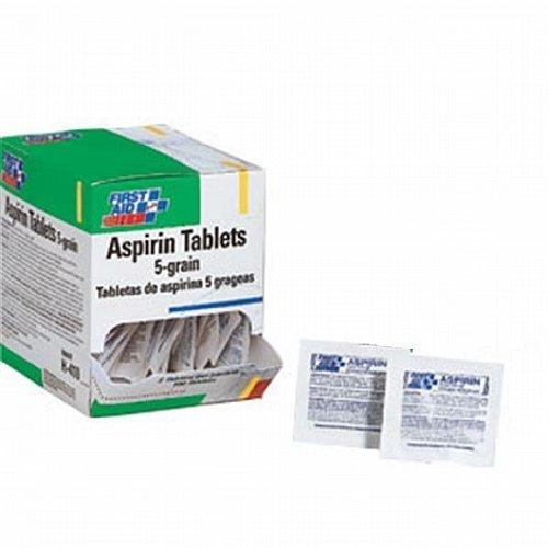 Aspirina tabletas (50 paquetes de 2 pastillas)