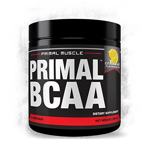 BCAA PRIMAL beber rápido Mix - masa de músculo magro construir, a recuperarse de los entrenamientos, reducir niveles de grasa corporal y maximizar la resistencia. Sabor Citrus Blast - garantía de devolución de dinero!