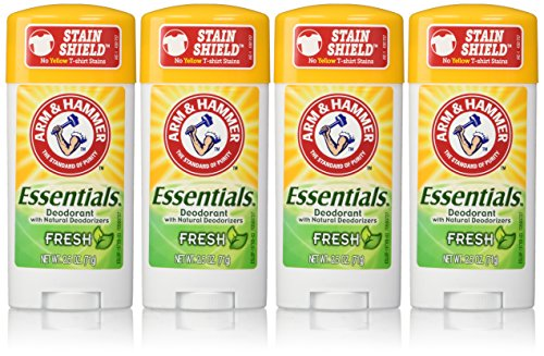 ARM & Hammer Essentials desodorante, fresco, 2.5 Oz/pack, paquete de 4