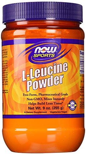 Ahora alimentos L-leucina polvo, 9 onzas