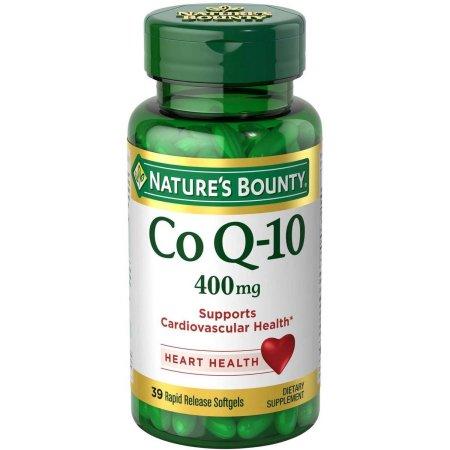 Nature's Bounty Maximum Strength Cardio Q-10 Co Q-10 Cápsulas Blandas suplemento dietético, 400 mg, 30 conteo