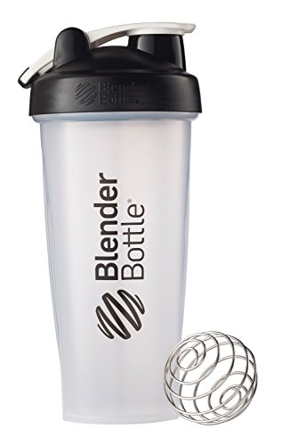 Botella de la coctelera superior del lazo de BlenderBottle clásico, negro claro, 28 onzas